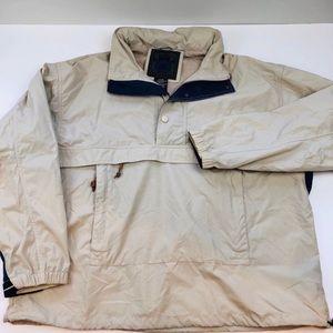 Vintage St. John's Bay tan windbreaker jacket